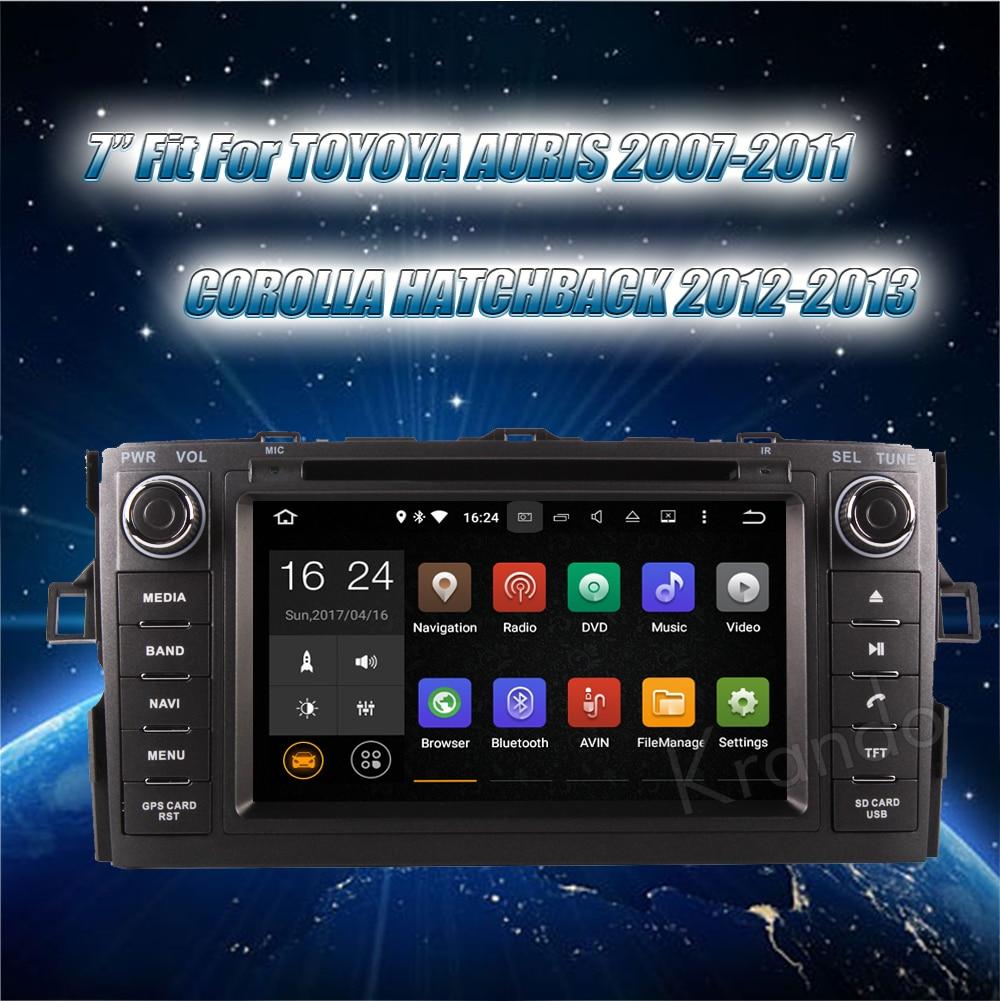 Krando toyota auris corolla hatchback Android car radio gps navigation multimedia system (8)