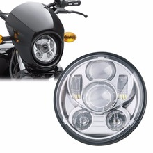 "5.75"" HID LED Headlight High Low Beam 5 3/4"" Front Driving Head Lights Headlamp For Harley Davidson Motorcycle Daymaker"