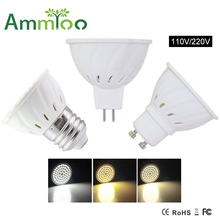 led light bulb gu10 mr16 e27 gu5.3 led spotlight 220V 110V led lampada 4w 6w 8w smd 2835 led lamp lampara spot lights & lighting