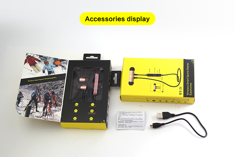 BT-21 Wireless Earphones Accessories Display