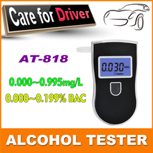F2015 Breath Tester Analyzer Pocket Digital Alcohol Breathalyzer Detector Test Testing& blue backlight & Mouthpieces