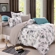 2017 Luxury Chinese Country Style Comforter Bedding Sets Country Quilts Cover Cotton Queen Size/King Size Silk Bedding Set(China)