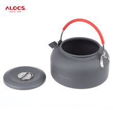 ALOCS 0.8L Aluminum Outdoor Teapot Camping Kettle Lightweight Water Kettles Tea Coffee Pot For Outdoor Camping Hiking Fishing(China)