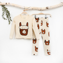 Tiny Cottons 2017 Autumn T-shirt Pants Kids Sets Toddler Animal Pattern Clothing Children Fashion Print Suits Boys Girls Outfit(China)