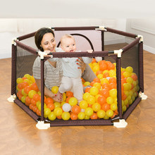 Baby Playpen Portable Plastic Fencing For Children Folding Baby Safety Fence Barriers For Securitis Ball Pool For Child(China)