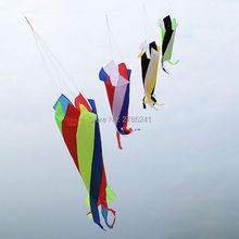 3.9ft Windsocks Ripstop Lightweight Nylon Wing Kites & Accessories spiral Rotating color tail toys(China)