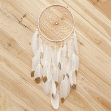 Hanging Feather Pearl Dream Catcher Indian Style Wind Chimes Pendant Dream Catcher Hunter Substance Home Decoration