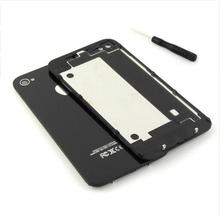 10pcs High Quality Battery CoverFor iPhone 4 4s Back Battery Glass Cover Black/White Housing OEM Replacement Parts with Tool