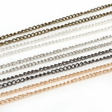 Hot Sale 5m/lot Rhodium/Silver/Gold/Gunmetal/Antique Bronze Plated Necklace Chains for DIY Bracelet Jewelry Findings Making
