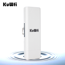 KuWFi  Wireless Outdoor CPE WIFI Router 1000mW 2K Distance 150Mbps Wireless Access Point CPE Router With POE Adapter WIFI Bridge