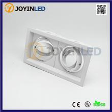 Double heads high power led grille light fixtures 2 heads GU10/MR16 halogen light source assembled led downlight fixtures