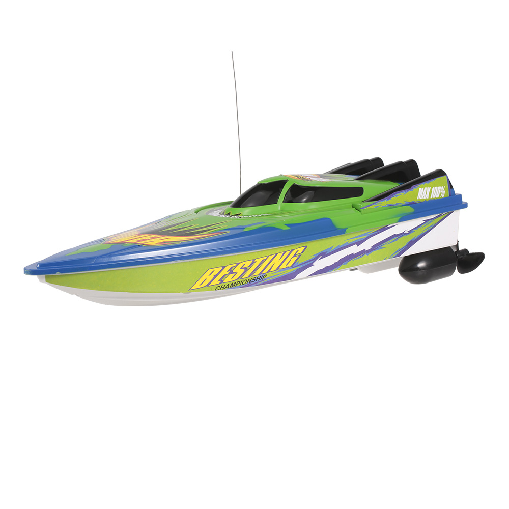 Radio Control Racing Boat RTR Electric Speedboat Ship RC Boat Model RC Toys with 4.8V 700mAh Rechargeable Battery (2)