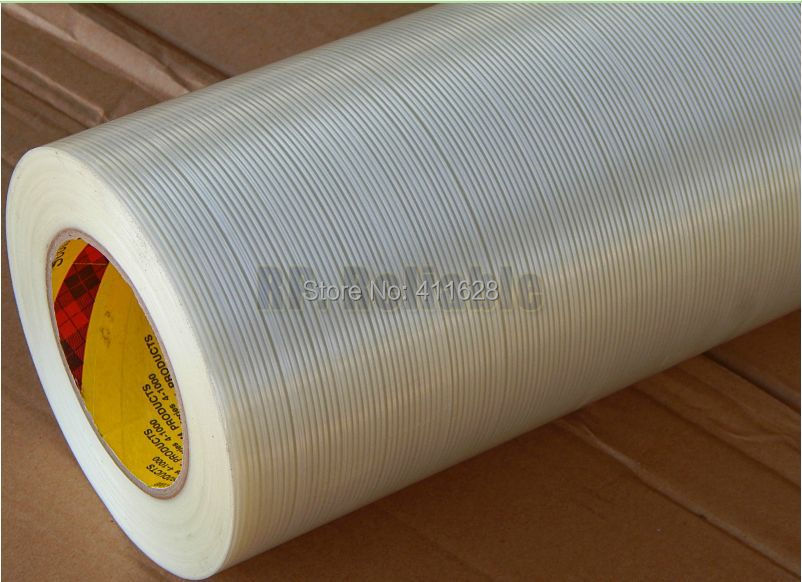 1x (5cm) 50mm*55M 3M 8915 Strong Tensil Adhesive Fiberglass Strip, Widely Use for Wood Metal Appliance Box Package Fasten<br>