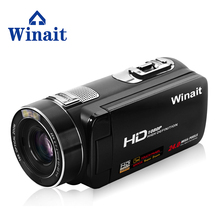 Winait 2017 cheap HDV-Z80 digital video camera with extra macro lens remoter control Smile Capture touch screen(China)