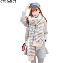 CUHAKCI New 2017 Branded Ladies Scarf Mohair Warm Oversized Gradient Scarves Shawls Knitting Wool Scarfs foulard women bufand