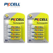 2Pack/8Pcs PKCELL AA Batteries NI-MH 2A 2000mAh 1.2V AA Rechargeable Battery Bateria Baterias(China)