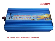 3000W Power Inverter Pure Sine Wave DC 12V to 220V AC Converter Power Supply Free shipping