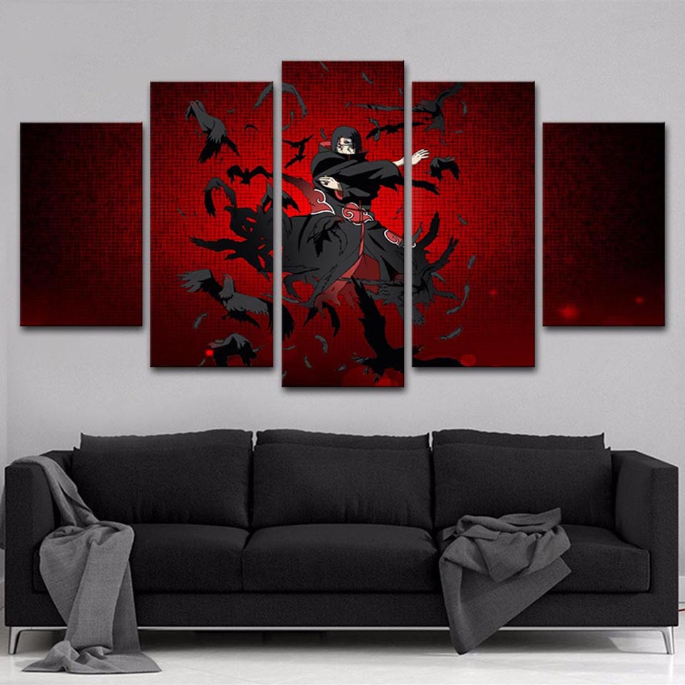 Picture Wall Living Room HD Printed Art Home Decoration 5 Panel Naruto Anime Modular Posters Frame Modern Painting Canvas