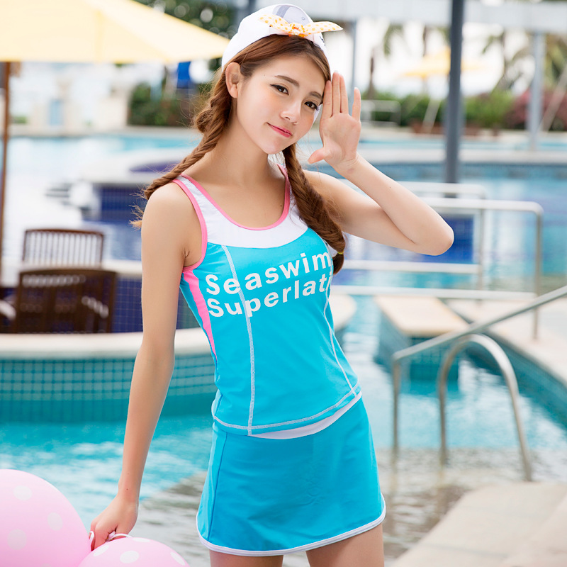 Korean Fashion Beach Outdoor Swimsuit Ladies Conservative Three-piece Sets of Tenuous Swimsuit<br><br>Aliexpress