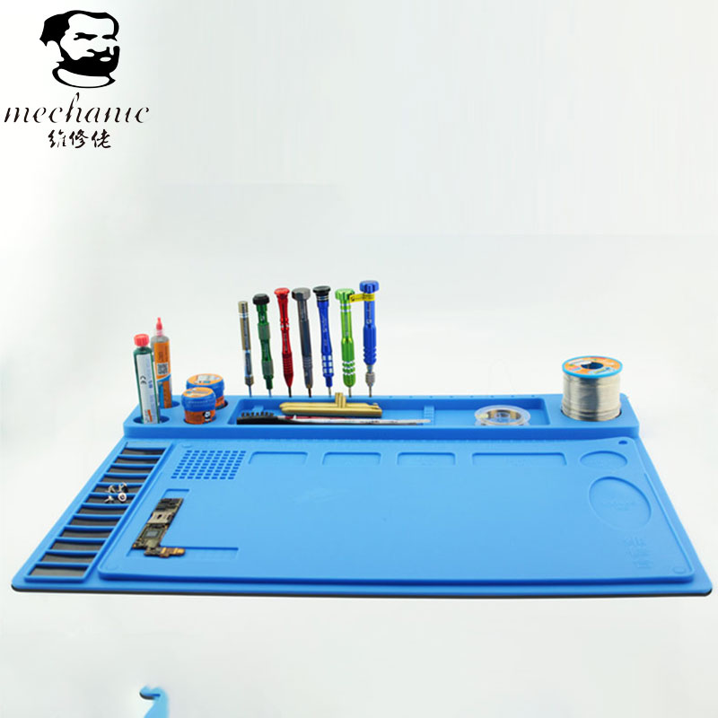 MECHANIC Integrated Silicone Repair Magnetic Work Pad Main Board Chip CPU NAND Slot Pads Cellphone Repairs Soldering Station<br>