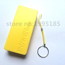 Mobile Phone Portable Power Bank Backup Battery Charger 18650 Battery Storage Yellow Box Holder Box Case for Flat 18650 Battery(China)