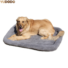 Large Dog Beds Gray Warm Soft Blanket For Small Medium Pet Cat Sleeping Mat Mattress Cushion 100*72cm/84*64cm/72*50cm/58*40cm