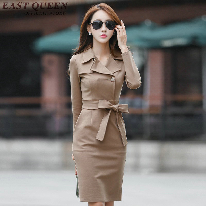 Business dress clothes business office dress office dresses women 2017 turndown collar NN0982 C
