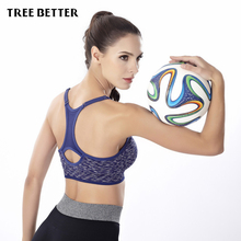 Shockproof quick dry wireless sports Bra No steel ring Padded Yoga Bras vest jogging underwear Fitness Push Up Running Brassiere(China)