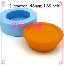 GYL251 Cupcake Cake Tart Bottom 48mm Silicone Mold Chocolate Fondant Cake Decoration Soap Candle Biscuit Moulds Food Safe