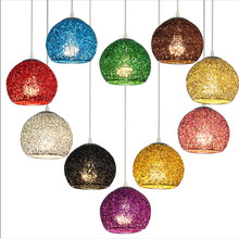modern lamps pendant lights diameter 18cm Oxidation color aluminum winding ball LED indoor lighting dining room light fixture