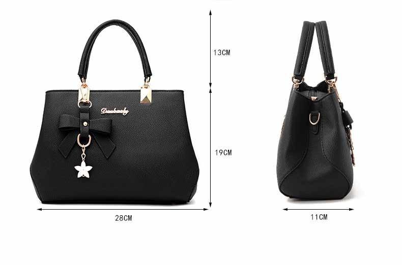 WENYUJH New 18 Elegant Shoulder Bag Women Designer Luxury Handbags Women Bags Plum Bow Sweet Messenger Crossbody Bag for Women 3