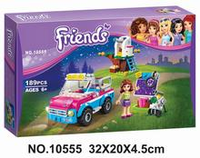 BELA 10555 Girl Friends Olivias Expeditions Auto Car Toys DIY Building Brick Toys Girls Gift Compatible Lepin 41116