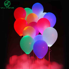 12inch Latex Glow In The Dark Sky Lanterns Flash Illuminated LED Balloon for Marriage Wedding Kids Birthday Party Decor Ballon(China)