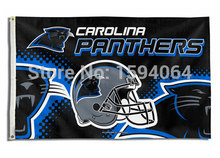 3x5ft USA NFL Carolina Panthers helmet flag banner metal hole polyester version free shipping(China)