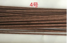 4# 4mm 60cm Brown Paper Covered Wire Artificial Flower Stem Stick Silk Flower Accessory DIY Crafts  (100pcs/lot)