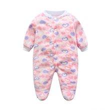 Autumn Winter Newborn Baby Clothes Fleece Infant Boy Clothes Cheap Cartoon Animal Jumpsuits Baby Girls Rompers Baby Clothing