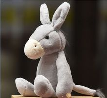 small cute plush donkey toy creative gray donkey doll gift about 28cm