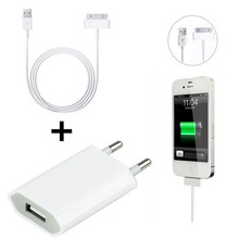 GEUMXL Original ac wall charger + 30pin USB Data Charger charging Cable for iPhone 3GS 4 4S 4G nano touch(China)