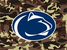Penn State Nittany Lions Camo Flag 3ft x 5ft Polyester NCAA banner white sleeve with 2 metal Grommets 90x150cm(China)