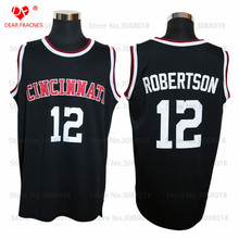 New Cheap Cincinnati Bearcats #12 Oscar Robertson Jersey Throwback College Basketball Jersey Vintage Retro For Mens Shirts Sewn(China)