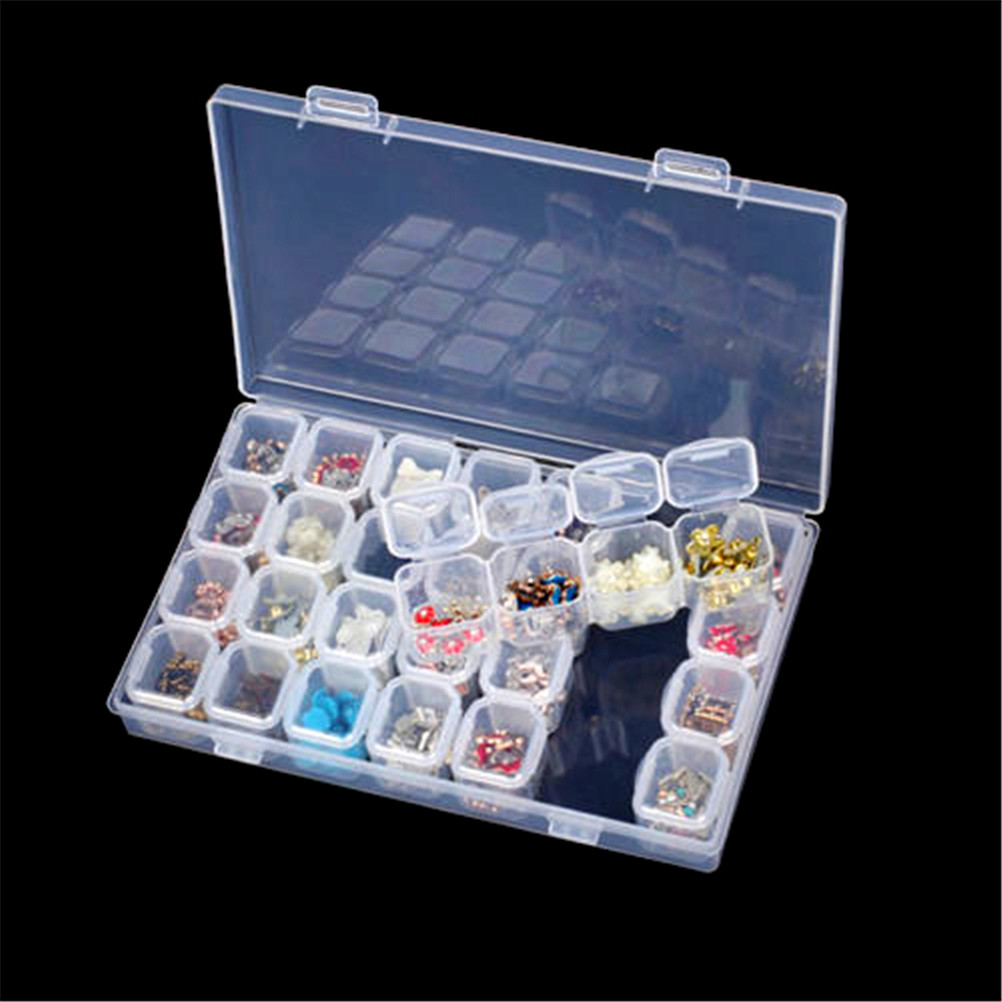 Transparent Jewelry Storage Box Adjustable Portable Travel Craft Plastic Ring Earring Drug Pill Beads Organizer Case