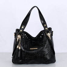 Famous Brand Tassel Women Bag Ladies Hand Bags Crocodile Designer Tote Big Shoulder Bags Female High Quality Handbags sac a main