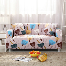 Modern Furniture Decorative Sofa Protective Slip Cover Geometric Floral Printing Removable Elastic Couch Stretch Case For Living(China)