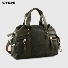 NIYOBO 2017 New Travel Luggage Duffle Bag Casual Mens Handbags Canvas Traveling Shoulder Bag Men Travel Bags Bolsa Feminina(China)