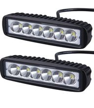 1 Pair 6 inch Mini 18W LED Light Bar Motorcycle LED Bar Offroad 4x4 ATV Daytime Running Lights Truck Tractor Warning Work Light(China)