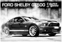 Cars Poster - Ford Mustang Shelby GT500 Supersnake Cartoon Poster Game Poster Movie Poster Print Size 50X75cm C391