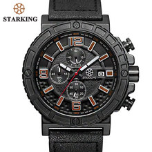 STARKING Mens Military Watch Chronograph Men Sports Watches 3ATM Fashion Multi-function Outdoor Casual Men Wristwatches(China)