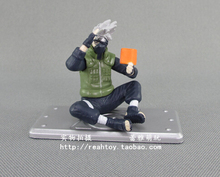 High Quality!! Japanese Amine Mini Cute NARUTO Hatake Kakashi 4cm PVC Action Figure Model Collection Toys Gift - China's Dream store