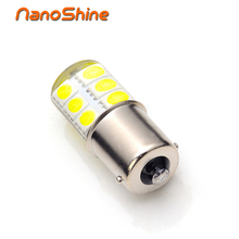 Nanoshine 2017 newest led 1156 p21w ba15s led car light Silica gel smd COB automobile vehicle motorcylce brake tail park lamp