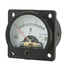 AC 0-3A Round Analog Panel Meter Current Measuring Ammeter Gauge Black(China)